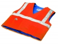Evaporative Cooling Traffic Safety Vest - Orange - L/XL